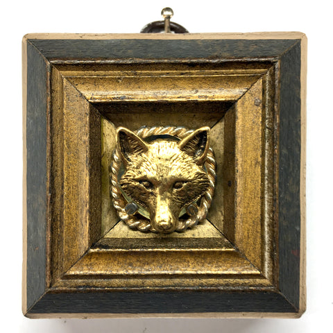 Marbled Frame with Fox on Brooch (2.5