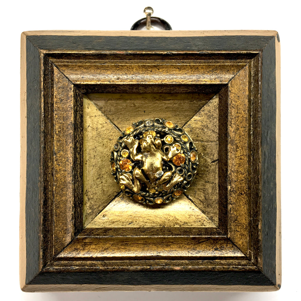 Marbled Frame with Frog on Brooch (3