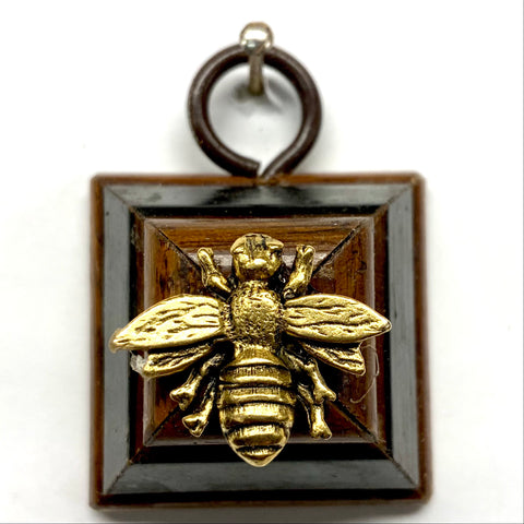Wooden Frame with Napoleonic Bee (1.25