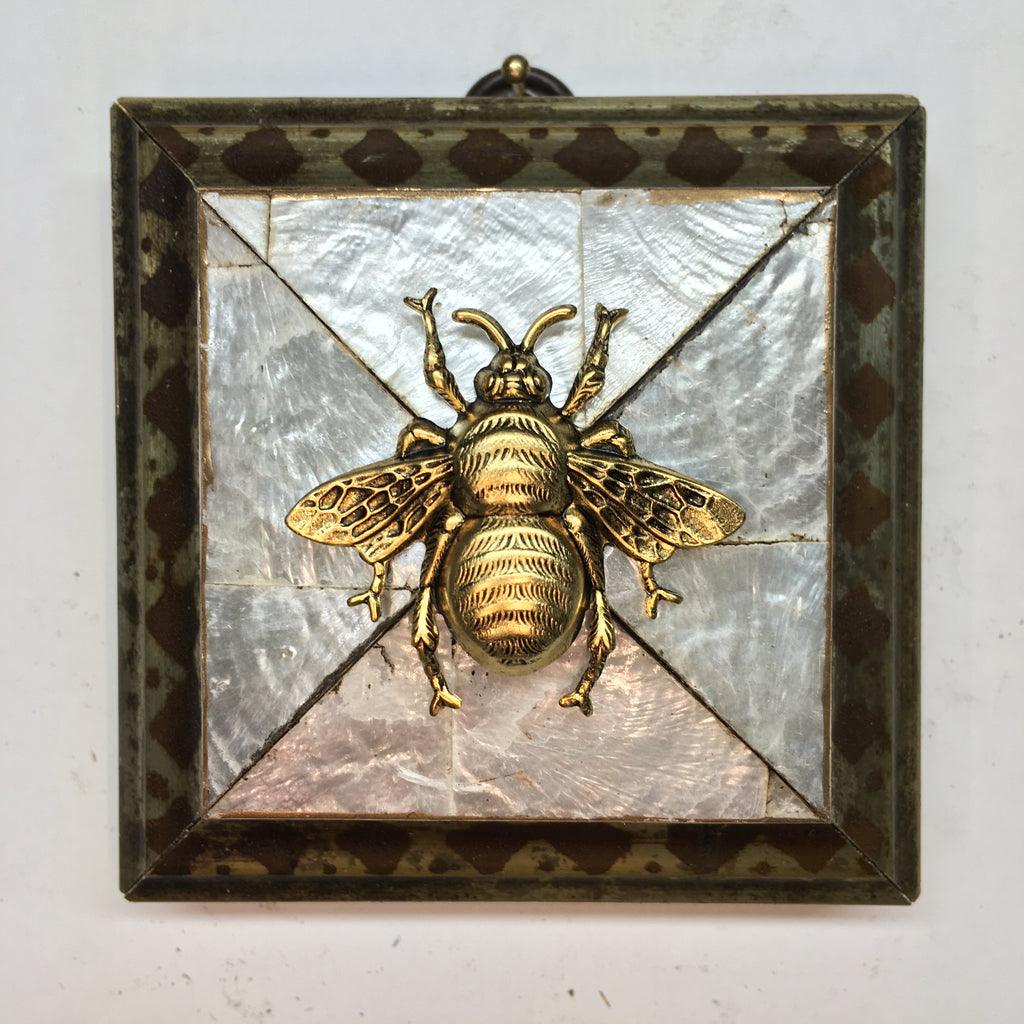 Mother of Pearl Frame with Grande Bee (3.5