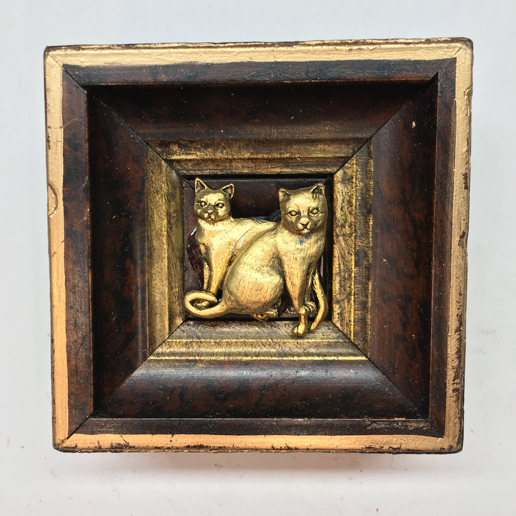 Gilt Frame with Cats (3