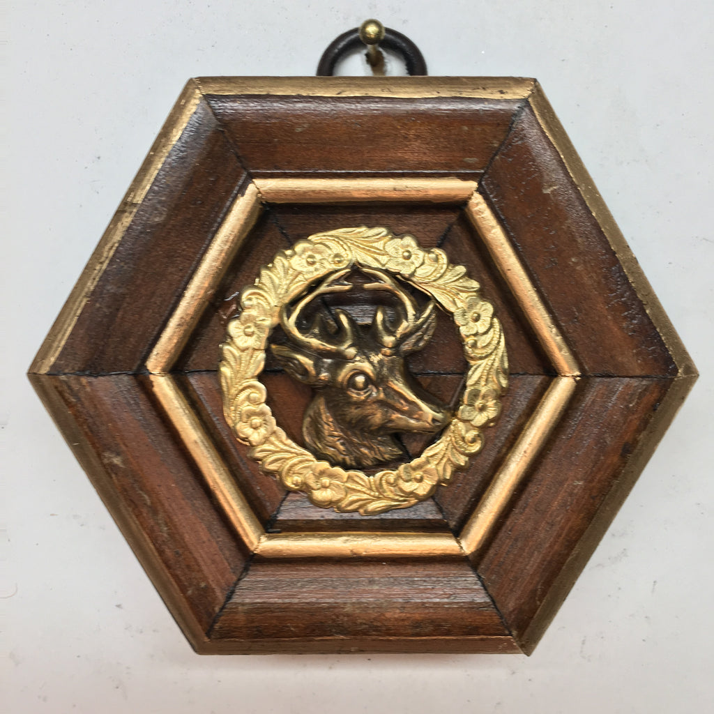 Wooden Frame with Stag (3.25