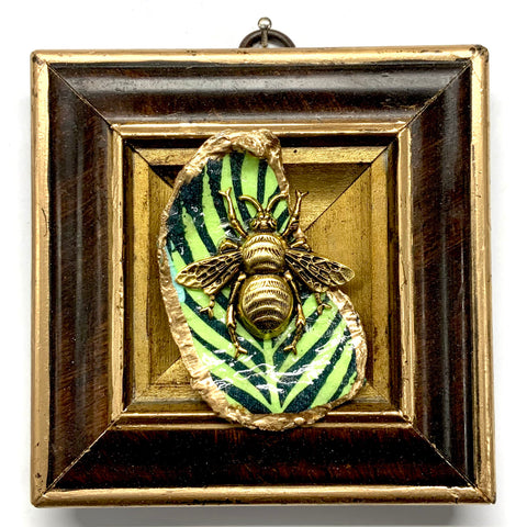 Burled Frame with Grande Bee on Oyster Shell (4.25