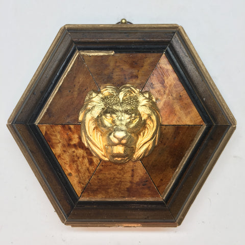 Burled Frame with Lion (4.25