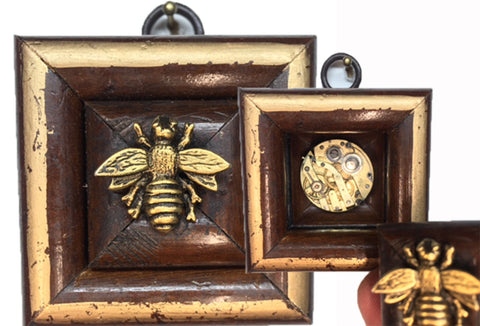 Wooden Frame with Secret Bee (2