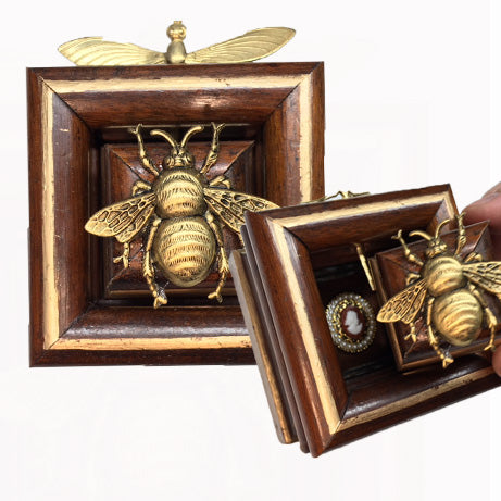 Wooden Frame with Secret Bee (3.5