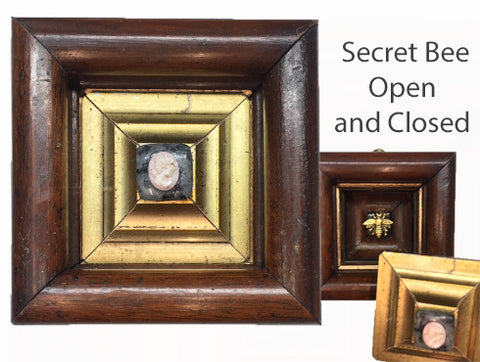 Wooden Frame with Secret Bee (3.25