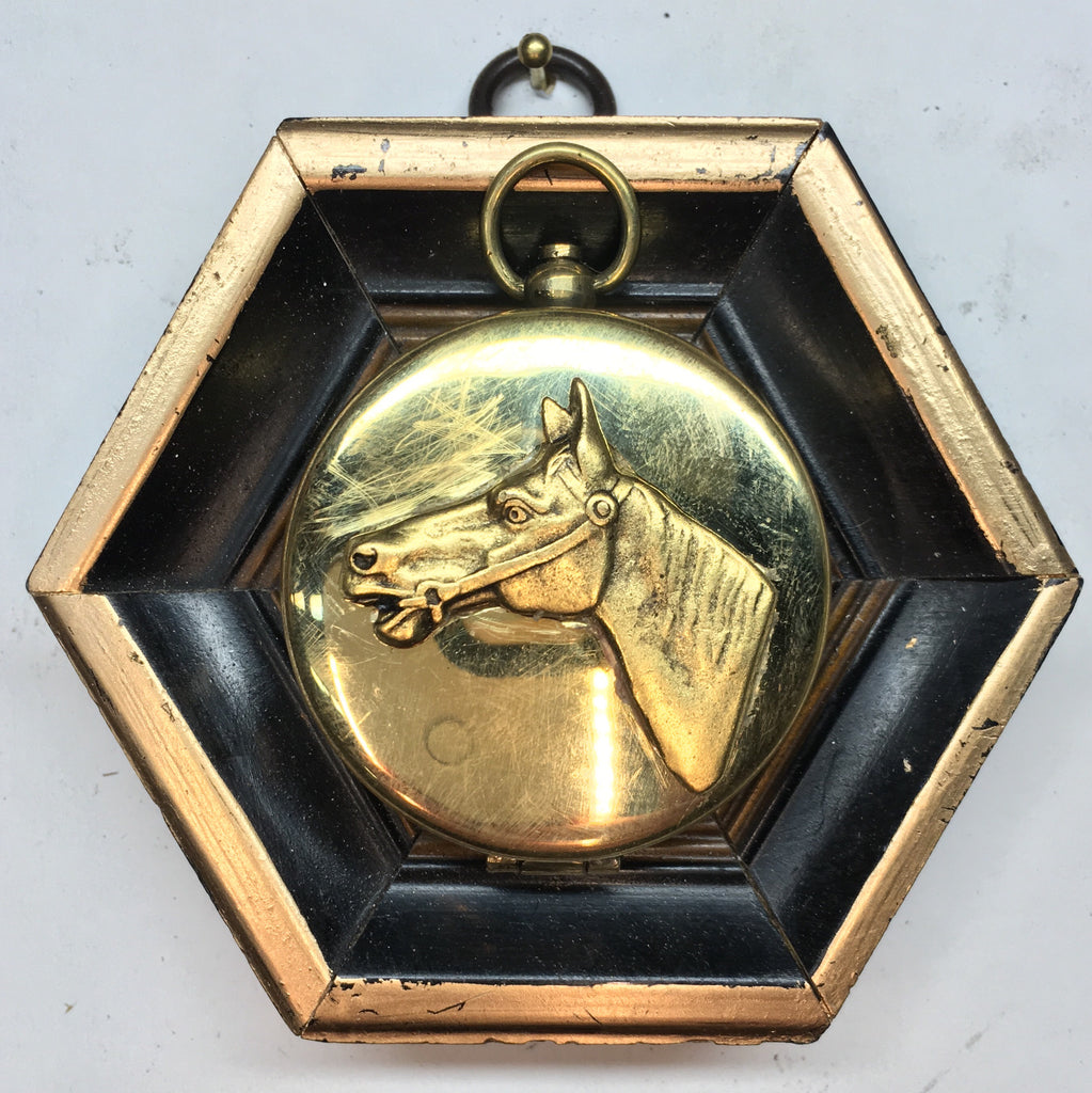 Lacquered Frame with Horse on Compass (3.75