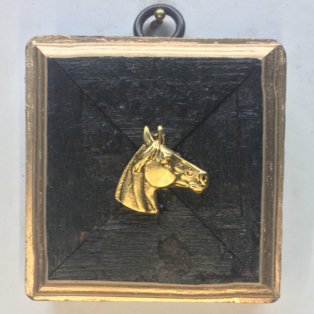 Bourbon Barrel Frame with Horse (3
