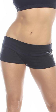 Sexy Unbroken Honor Military Navy Scrunch Back Work Out Shorts - Navy Blue/Blue - FitByM.com