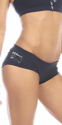 Sexy Night Vision Military Navy Blue Scrunch Back Athletic Mini Shorts - Navy Blue/Blue - FitByM.com