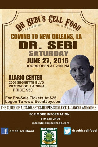Dr. Sebi in New Orleans, Louisiana on June 27, 2015