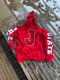 RED J STATE Hoodie w Red patch
