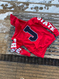 RED J STATE Hoodie w Blue patch