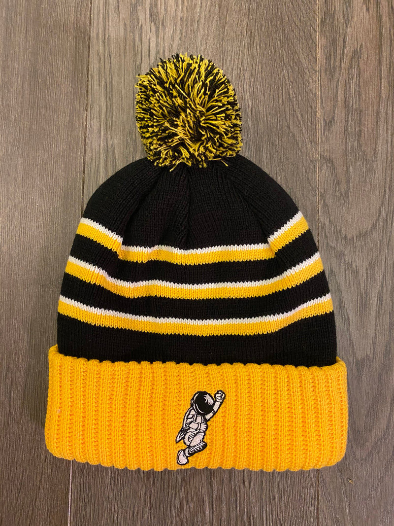 Beanie hat w ball (BKL/YELLOW)