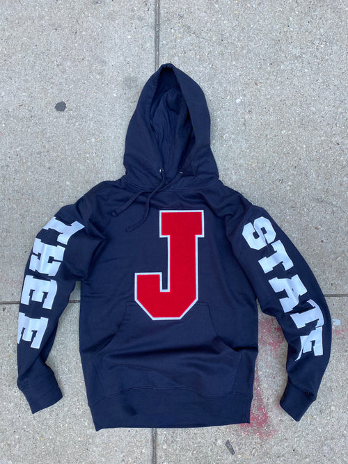 J STATE Hoodie (Blue/Red) - Pls read the description before purchase.