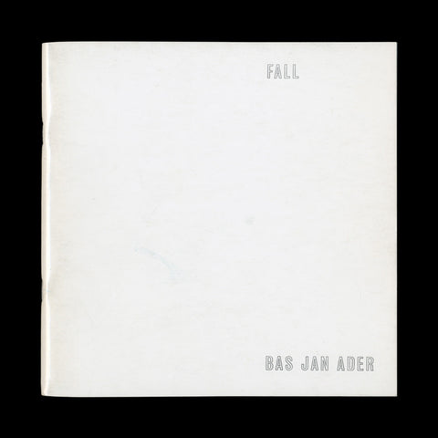 ADER, Bas Jan. Fall. [Los Angeles]: [privately printed], [1970].