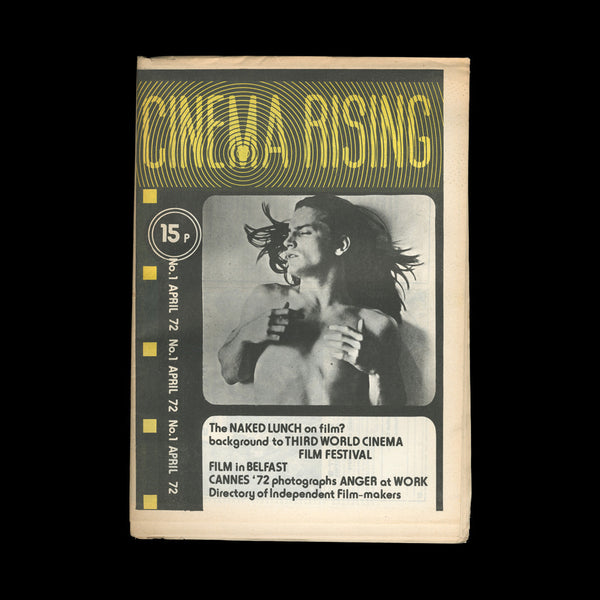 [UNDERGROUND CINEMA]. RAYNS, Tony (ed). Cinema Rising No.1 April 72. London: Cinema Rising, 1972.