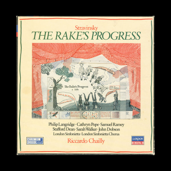 HOCKNEY, David. Stravinsky. The Rake's Progress... London: The Decca Record Company Limited, 1984. ASSOCIATION COPY