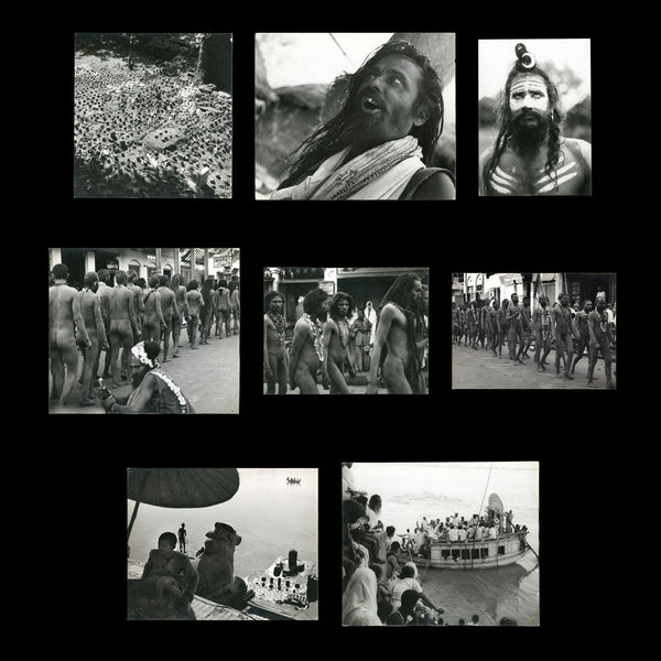 [BENARES / TANTRA]. LANNOY, Richard. Original photographs of Tantrik & other Yogis, an Akhara of wrestlers, painted Kali idols, Sadhus and other views of the people, and material and religious culture of Benares. c. 1958 – 1960.