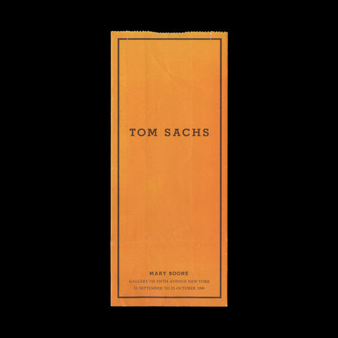 SACHS, Tom. Promotional item from the ' 'Haute Bricolage' exhibition at Mary Boone Gallery, New York 11 September to 23 October 1999.