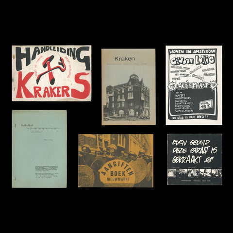 SQUATTING. Collection of five books and a handbill relating to the Dutch squatters' movement. 1969-1980.