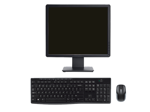 Monitor w/ Wireless Keyboard and Mouse Combo