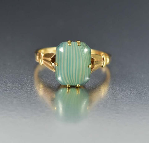 Antique Gold Opal and Diamond Ring