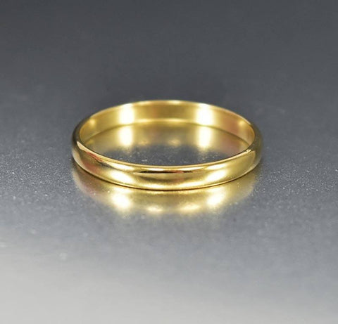 Antique 14K Yellow Gold Wedding Band Ring