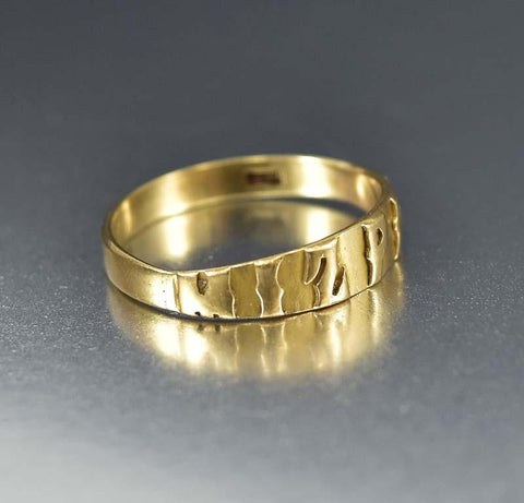 Antique Victorian 18K Gold Mizpah Band Ring