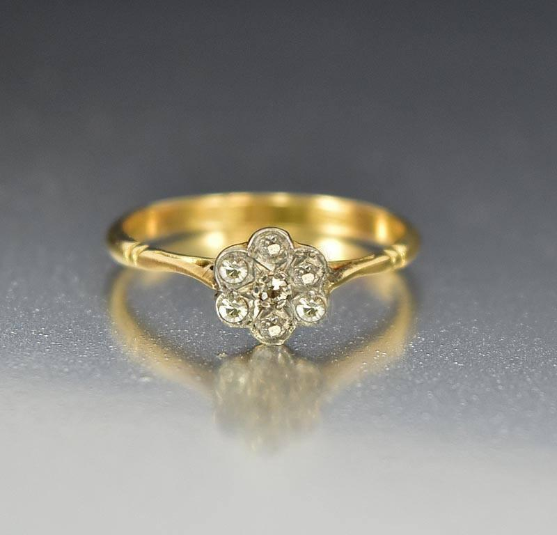 Art Deco 18K European Diamond Antique Engagement Ring - Boylerpf