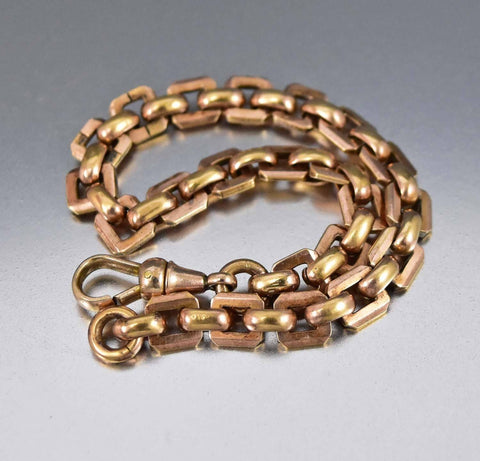 Superb 18K Rolled Rose Gold Watch Chain Bracelet