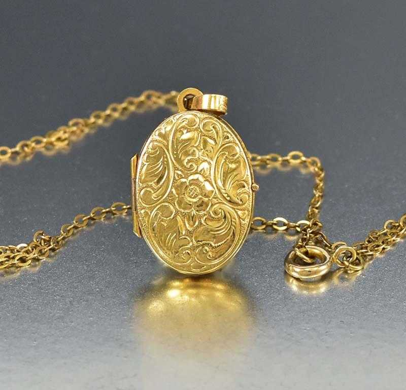 russell home locket gold lockets engraved lane