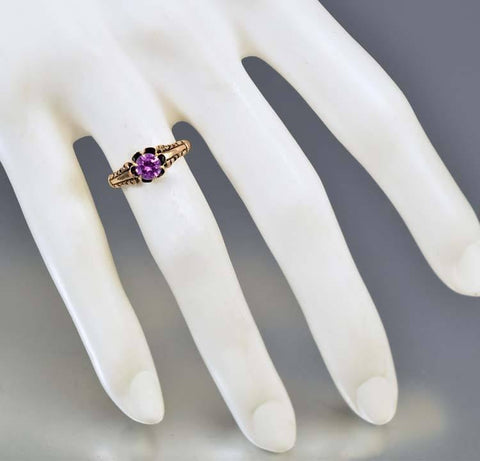 Antique 14K Gold Color Change Alexandrite Sapphire Ring