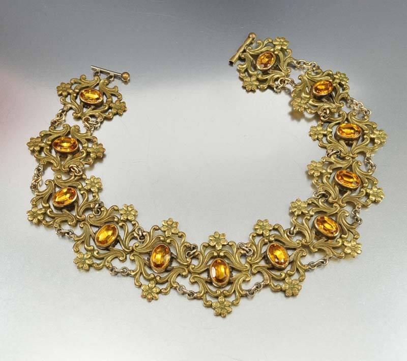Antique Art Nouveau Collar Necklace - Boylerpf