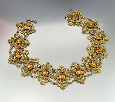 Antique Art Nouveau Collar Necklace
