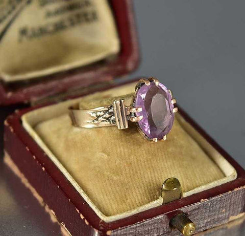 Outstanding Amethyst 14K Rose Gold Ring