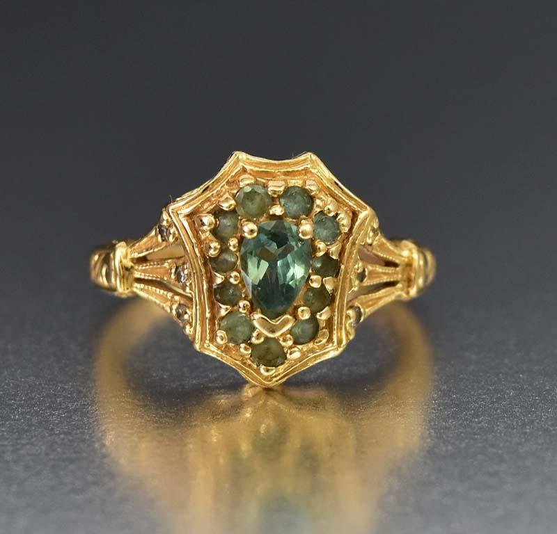 Amazing Antique 14K Gold Chrysoberyl Alexandrite Ring - ON HOLD - Boylerpf
