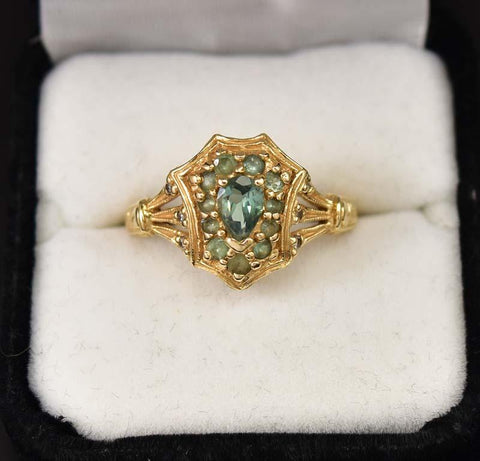 Amazing Antique 14K Gold Chrysoberyl Alexandrite Ring - ON HOLD