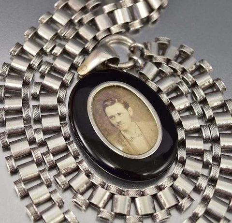 ON HOLD Fine Antique Banded Agate Fob Locket Pendant, C. 1850