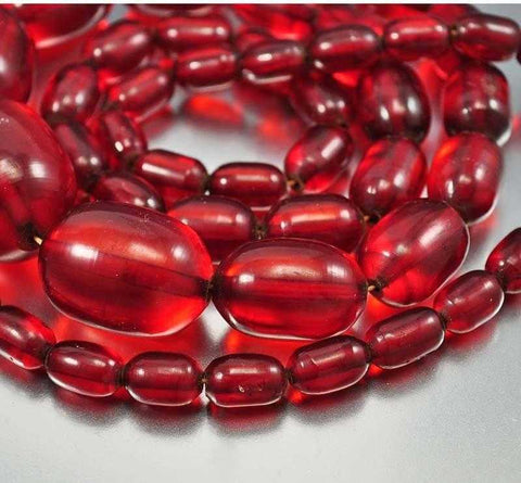 Vintage Art Deco Cherry Amber Bakelite Necklace 130 gms