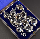 Fantastic Art Deco Silver Pools of Light Necklace - Boylerpf
