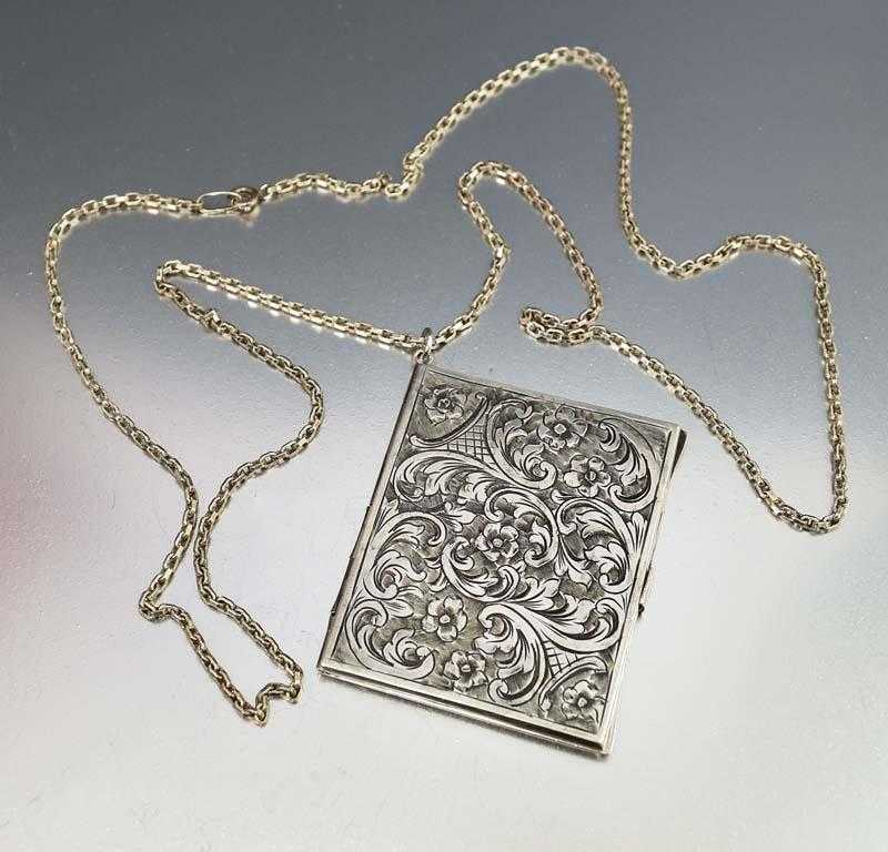 silver engraved lockets necklace limoges locket sterling memorial jewelry