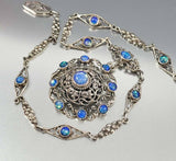 Antique Austro Hungarian Victorian Moonstone Necklace - ON HOLD - Boylerpf - 5