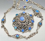 Antique Austro Hungarian Victorian Moonstone Necklace - ON HOLD - Boylerpf - 2