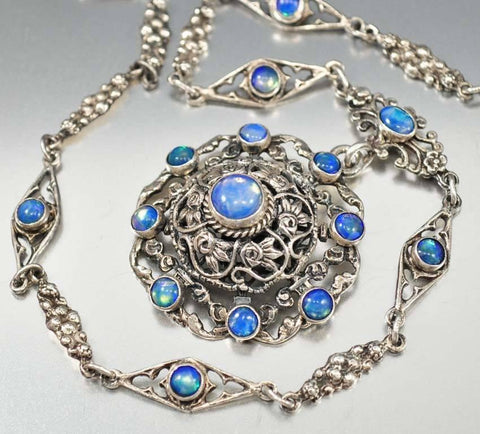 Antique Austro Hungarian Victorian Moonstone Necklace - ON HOLD