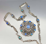 Antique Austro Hungarian Victorian Moonstone Necklace - ON HOLD - Boylerpf - 1