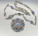 Antique Austro Hungarian Victorian Moonstone Necklace - ON HOLD - Boylerpf - 3