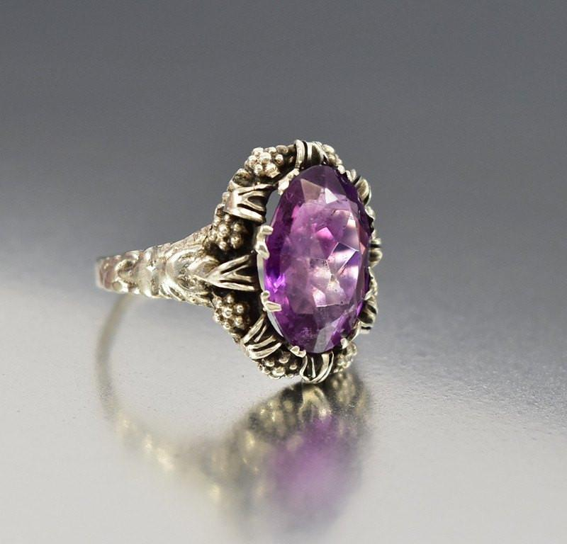 ring diamond amethyst rings art caravaggio engagement platinum p ct product masters princess platdam jewelry