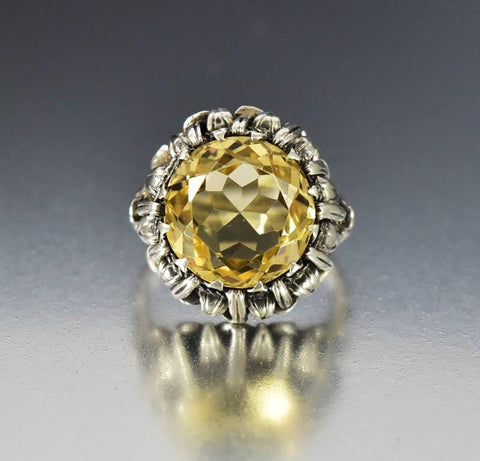 Arts & Crafts Bernard Instone Silver Citrine Ring